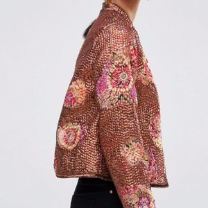 ASOS Premium Jacket In All Over Sequin and Floral