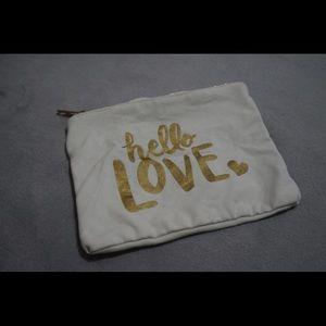 "Handbags - ""Hello Love"" pouch"