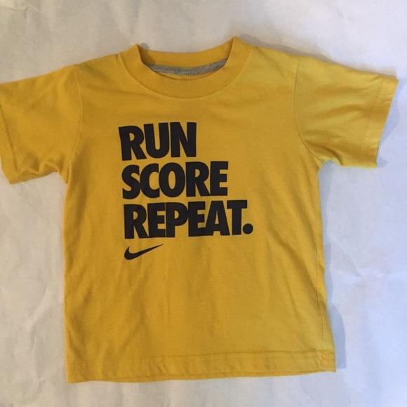 Toddler Boys Girls NIKE Yellow Tee Shirt. M 59ecb605291a355e56083fdf b669eba0d