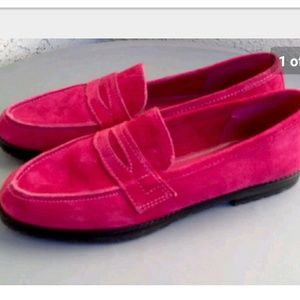 Sam & Libby Pink Suede Shoes 8.5 B