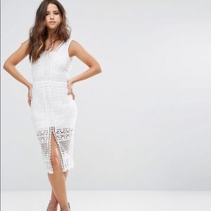 Asos Love Triangle white crochet lace dress
