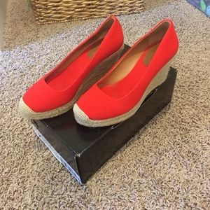 Jcrew Canvas Wedge Espadrilles