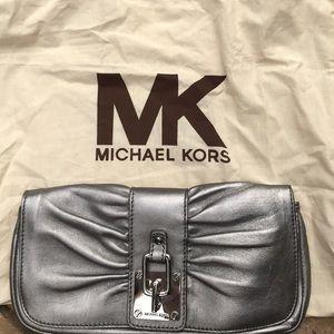 Michael Kors Silver Clutch