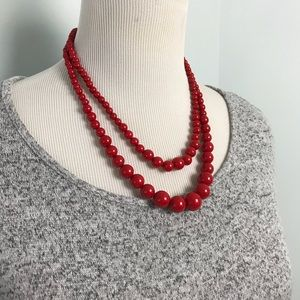 Jewelry - Red Double Strand Necklace