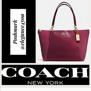COACH Authentic Leather & Suede Tote!