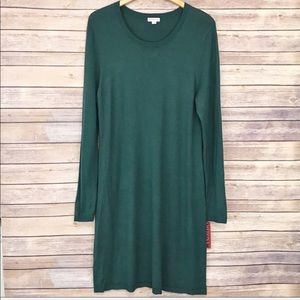 Merona Lightweight Long Sleeve Sweater Dress XL