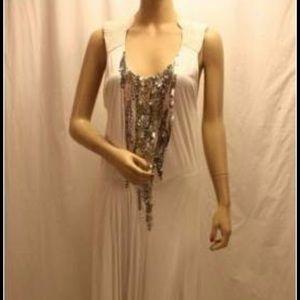 Bcbg white runway long gown. Sz xs