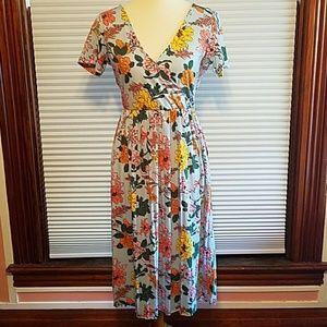 Vintage floral look dress