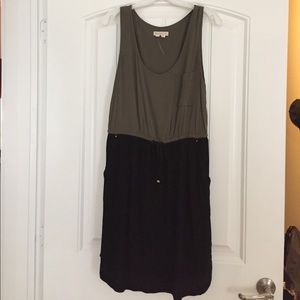 Olive Green and Black Dress from Anthropologie