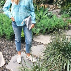 EUC J.Crew vintage jeans with patchwork
