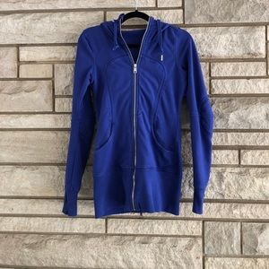 Lululemon zip up logo jacket hooded