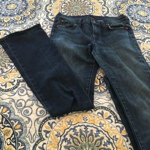 7 for all mankind boot cut jeans size 28.