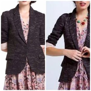 Cartoonist soft Knit dashes Tweed Blazer