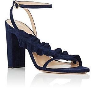 Chloé navy block heel sandals