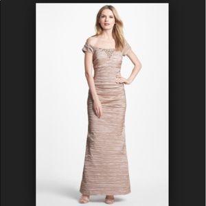 Alex evenings long stretch Taffeta Dress (royal)