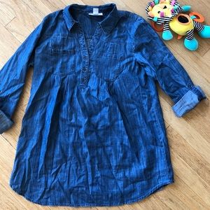 Motherhood Maternity Chambray / Denim Tunic