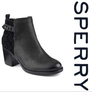 Sperry's Ambrose Quilted Suede Bootie Size 9