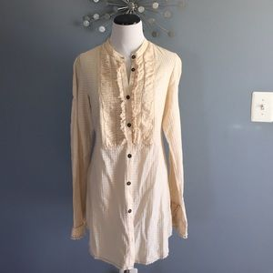 Free People button down dress tunic