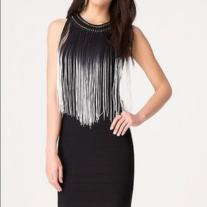 Fringe Bebe mini dress