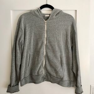 John Galt Grey Zip Up Hooded Jacket