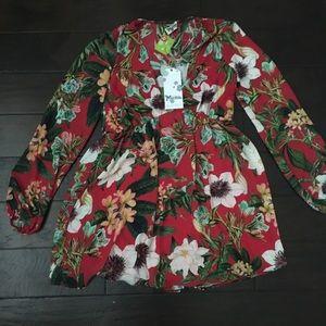 Show Me Your MuMu Dakota Dress Tea Garden NWT