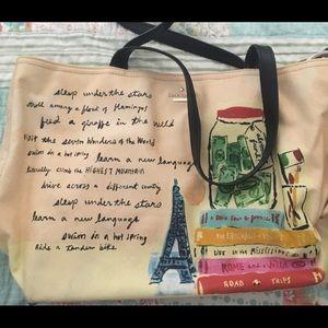 Paris themed Kate Spade tote bag