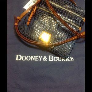 Dooney&Bourke Blue Snakeskin Crossbody