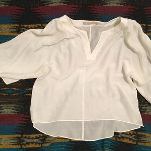 Zara Silk Hi-Low Blouse Size M