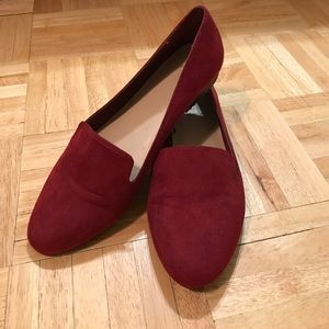 Forever 21 Cranberry Suede Loafers 9