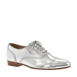 Jcrew mirror metallic oxfords ROSE GOLD 8.5