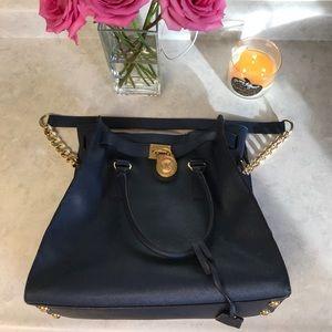 Michael Kors Hamilton Bag - Blue Saffiano (LG)