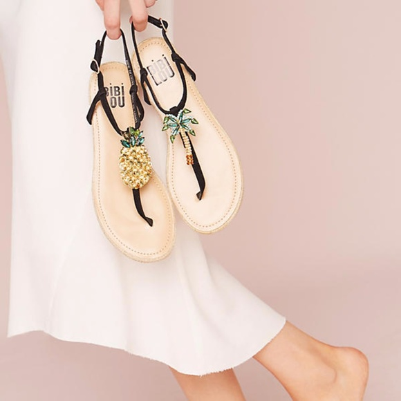 f420c7165 🌸HP🌸Pineapple and Palm Sandals by Bibi Lou