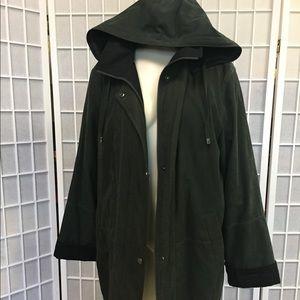 Fleet Street woman winter Jacket black green Dark