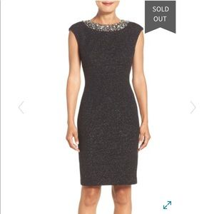 Eliza J embellished sparkle knit sheath dress
