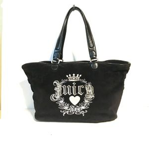 Juicy couture black velour tote.