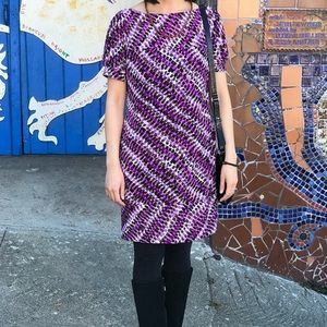 Suzi Chin Purple Patterned Dress