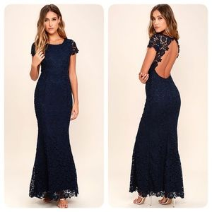 My Flare Lady Lace Maxi by LuLus