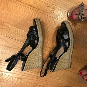 Cole Haan/Nike Air patent strappy Wedge Size 8
