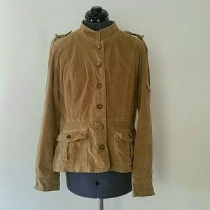 Calvin Klein camel corduroy military jacket