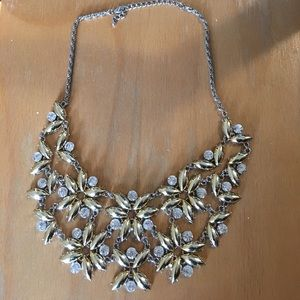 Diamond and Gold Statement Necklace