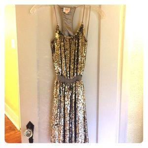 Gold/Silver Parker Dress