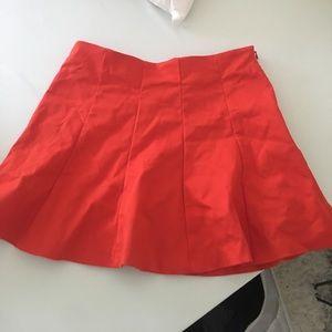 ZARA NWOT Red Pleated Skirt