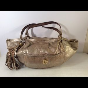Tory Burch gold tote bag