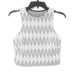 Black and white matching skirt and top set