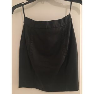 French connection black leather skirt, size 0.