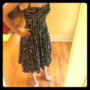 Anthropologie Black Vintage Style Dress