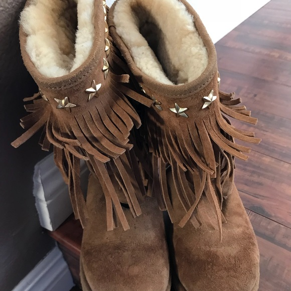 a15cd0347e9 Jimmy Choo & ugg suede boots.