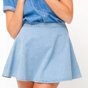 American Apparel Light Blue Skater Skirt