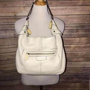 Coach Ivory/Cream Leather Hobo Bag