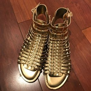 Gold Gladiator Sandals by Vince Camuto